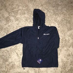 Champion hooded lightweight windbreaker/raincoat